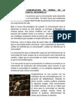 ROL DE LA COMUNICACIÒN NO VERBAL EN LA COMUNICACIÓN PARA EL DESARROLLO