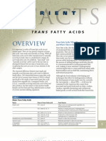 Trans Fatty Acid Fact Sheet