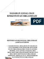 Sasaran Goal Dan Efektivitas Organisasi