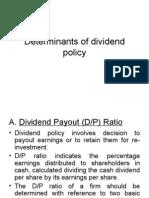 Determinants of Dividends