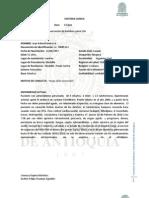 Historia Clinica Formato Vacio