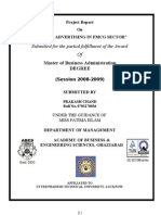 """""""ROLE OF ADVERTISING IN FMCG SECTOR"""" final"""