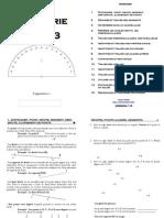Cahier de Geometrie