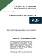 Antologia de Poesia de Las Corrientes Literarias Vanguardistas Del Sigloxx