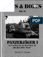 Nuts and Bolts Vol 07 Panzerjager I-4.7-Cm-PAK(t) Auf Pz I Ausf-B (Sd-Kfz-101) ENTE