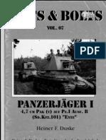 Nuts and Bolts Vol 07 Panzerjager I-4.7-Cm-PAK(t) Auf Pz I Ausf-B (Sd-Kfz-101) ENTE