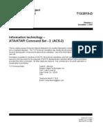 Ataatapi Command Set - 2 Acs-2 Rev4