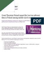 Gran Thornton Poland - Best Tax Advisory
