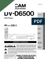 DV D6500 Manual