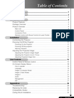 Optoma EP758 Manual