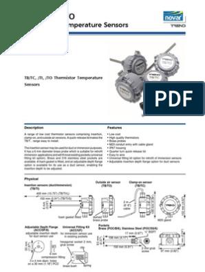 Trend TB//TI-S  Thermistor Insertion Temperature Sensor