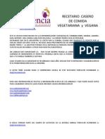 RECETARIO Casero Vegano-Vegetariano Volumen 1 10 FEB 2012