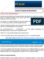 What Are Some Irrational Numbers