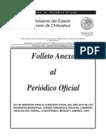 Ley de Ingresos Chihuahua 2012
