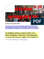 Noticias Uruguayas Viernes 6 de Abril de 2012