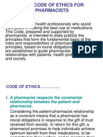 Code of Ethics for Pharmacists