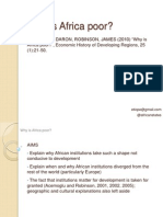 Acemoglu Robinson Why is Africa Poor
