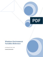 Windows Environment Variables Reference