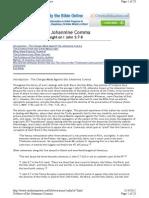 A Defense of the Johannine Comma