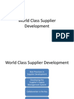World Class Supplier Development