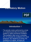 Oscillatory Motion