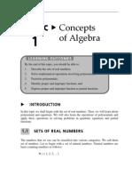 Topic 1 Concepts of Algebra