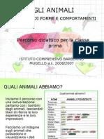 Gli Animali - Percorso didattico - Classe 1a