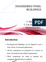 PRE –ENGINEERED STEEL    BUILDINGS