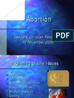 Peter Saunders Abortion Slides