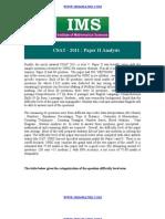 CSAT - 2011 Paper II Analysis