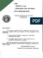 April 1, 1956 WPIA Postcard to Residents