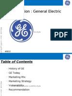 GE Mktg Strategy