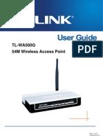 TL-WA500G User Guide 201003