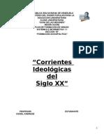 Corrientes Ideologicas Del Siglo 20