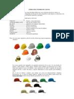 Código de colores de cascos
