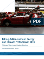 Taking Action on Clean Energy and Climate Protection in 2012
