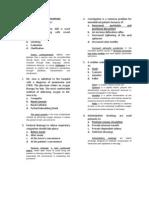 Fundamentals of Nursing Questionnaire i