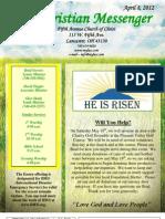 April 8 Newsletter