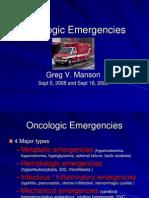 Oncology Emergencies