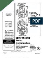 Craftsman Router 315.175040
