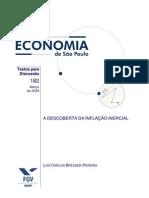 BRESSER-PEREIRA, LC A descoberta da inflação inercial