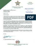Sheriff Morgan Response