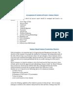 Arrangement of Contents of Project