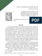 A Ideia de Europa Em Aristide Briand o Memorando Briand[1]