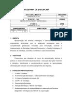 Ementa - Gestão Estratégica Empresarial - 2012