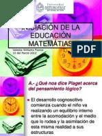 INICIACIÓN DE LA EDUCACIÓN MATEMÁTIAS