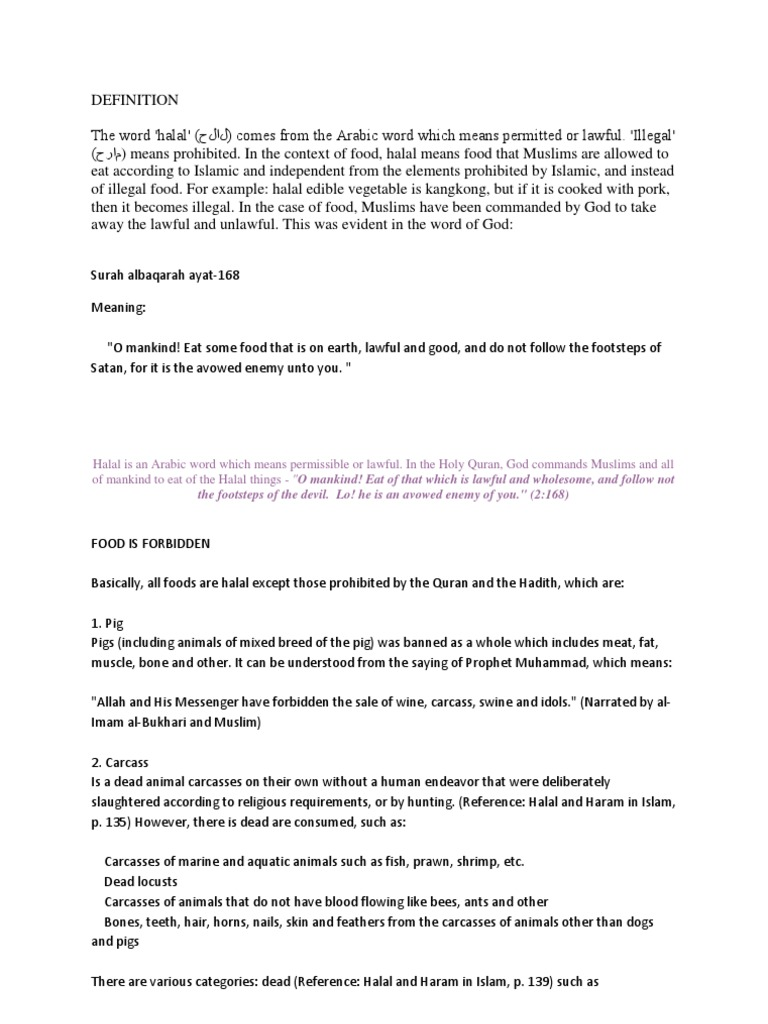 Definition Halal | Abrahamic Religions | Qur'an