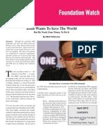 Matt Patterson - Bono Wants to Save the World