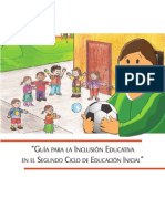 Guia Para Inclusion Educativa Segundo Ciclo
