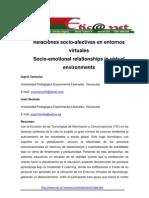 Relaciones Socioafectivas en Entornos Virtuales